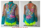 Suit for art gymnastics The article № 4624 Sizes: Growth of 140-146 centimeters - www.artdemi.ru