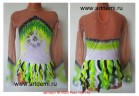 Suit for art gymnastics The article № 4883 Sizes: Growth of 130-140 centimeters - www.artdemi.ru