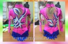Suit for art gymnastics The art № 4943 Sizes: Growth of 100-108 centimeters - www.artdemi.ru