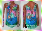 Suit for art gymnastics The article № 5119 Sizes: Growth of 130-140 centimeters - www.artdemi.ru