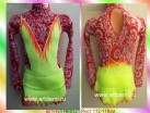 Suit for art gymnastics The article № 5121 Sizes: Growth of 112-118 centimeters - www.artdemi.ru