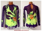 Suit for art gymnastics  The article № 5207 Sizes: Growth of 126-132 centimeters - www.artdemi.ru