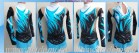 Suit for art gymnastics The article № 4838 Growth of 116-128 centimeters - www.artdemi.ru