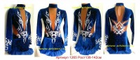 Suit for art gymnastics The article 1265 Sizes: Growth of 136-142 centimeters - www.artdemi.ru