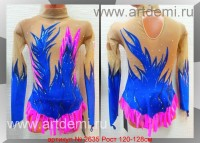 Suit for art gymnastics The article № 2635 Sizes: Growth of 120-128 centimeters - www.artdemi.ru