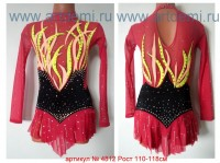 Suit for art gymnastics The article № 4812 Sizes: Growth of 110-118 centimeters - www.artdemi.ru