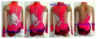 Suit for art gymnastics The article № 004533 Sizes: Growth of 112-120 centimeters - www.artdemi.ru