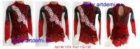 Suit for art gymnastics The art № 1374 Sizes: Growth of 132-138 centimeters - www.artdemi.ru