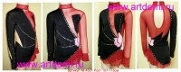 Suit for art gymnastics  The article № 4551 Growth of 107-115 centimeters - www.artdemi.ru