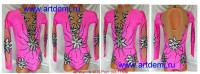 Suit for art gymnastics The article № 4570 Sizes: Growth of 103-115 centimeters - www.artdemi.ru