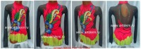 Suit for art gymnastics The article № 4582 Sizes: Growth of 120-130 centimeters - www.artdemi.ru