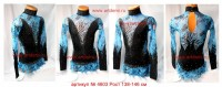 Suit for art gymnastics The article № 4603 Sizes: Growth of 138-146 centimeters  - www.artdemi.ru