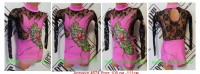 Suit for art gymnastics The article 4674 Growth of 105-111 centimeters - www.artdemi.ru
