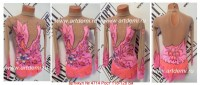 Suit for art gymnastics The article № 4714 Growth of 118-128 centimeters - www.artdemi.ru