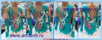 Suit for art gymnastics The art № 4825 Sizes: Growth of 126-136 centimeters - www.artdemi.ru