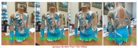 Suit for art gymnastics The article № 4827 Sizes: Growth 130-138 centimeters - www.artdemi.ru