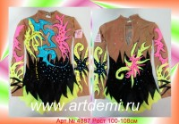 Suit for art gymnastics The art № 4887 Sizes: Growth of 100-108 centimeters - www.artdemi.ru
