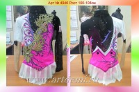 Suit for art gymnastics The art № 4946 Sizes: Growth of 100-108 centimeters - www.artdemi.ru