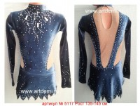 Suit for art gymnastics The article № 5117 Growth of 135-145 centimeters - www.artdemi.ru