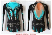 Suit for art gymnastics The article № 5178 Sizes: Growth of 110-123 centimeters - www.artdemi.ru