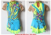 Suit for art gymnastics The article № 5238 Sizes: Growth of 120-130 centimeters - www.artdemi.ru