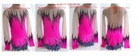 Suit for art gymnastics The art № 1211 Sizes: Growth of 140-145 centimeters - www.artdemi.ru